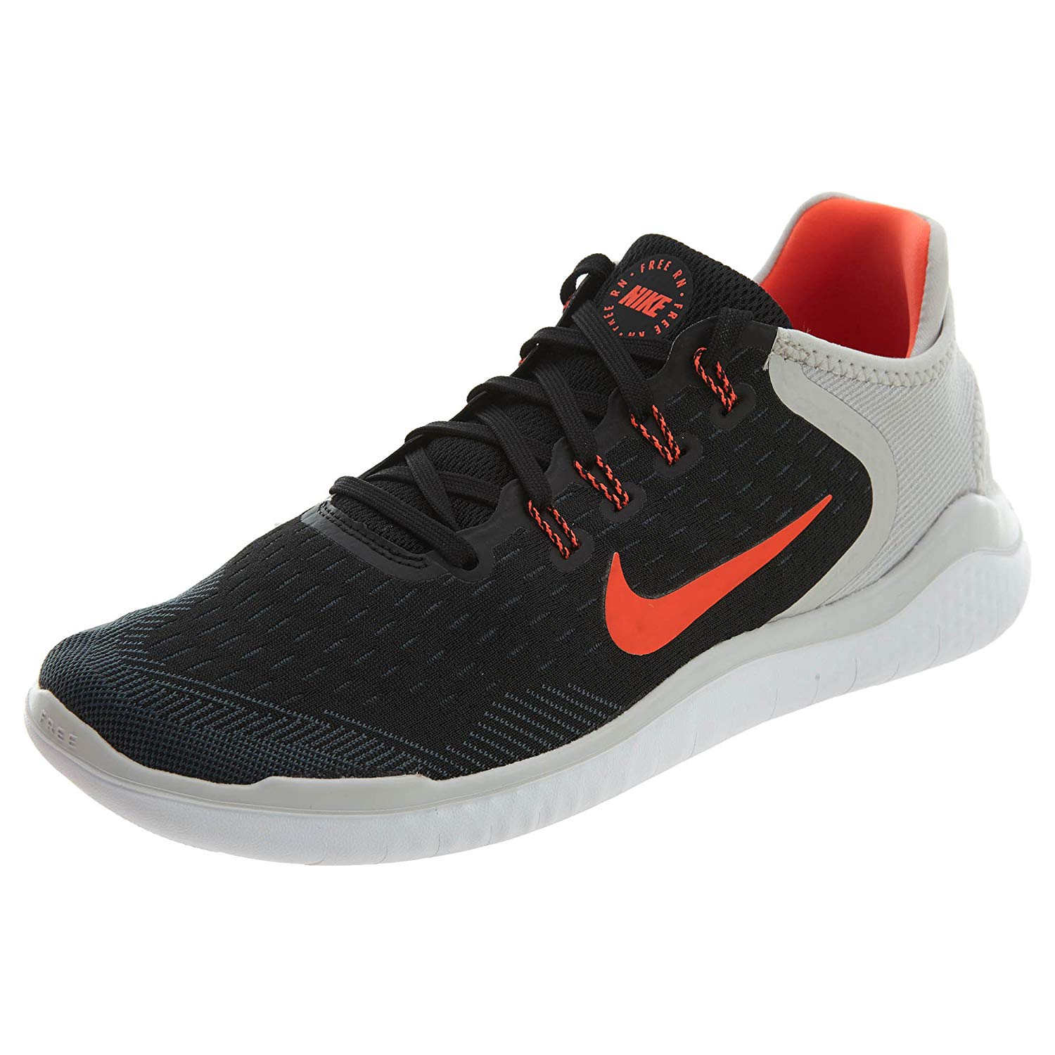 91aef9b332aa Nike Men s Free RN Flyknit 2018 Running Shoes-Black Total Crimson