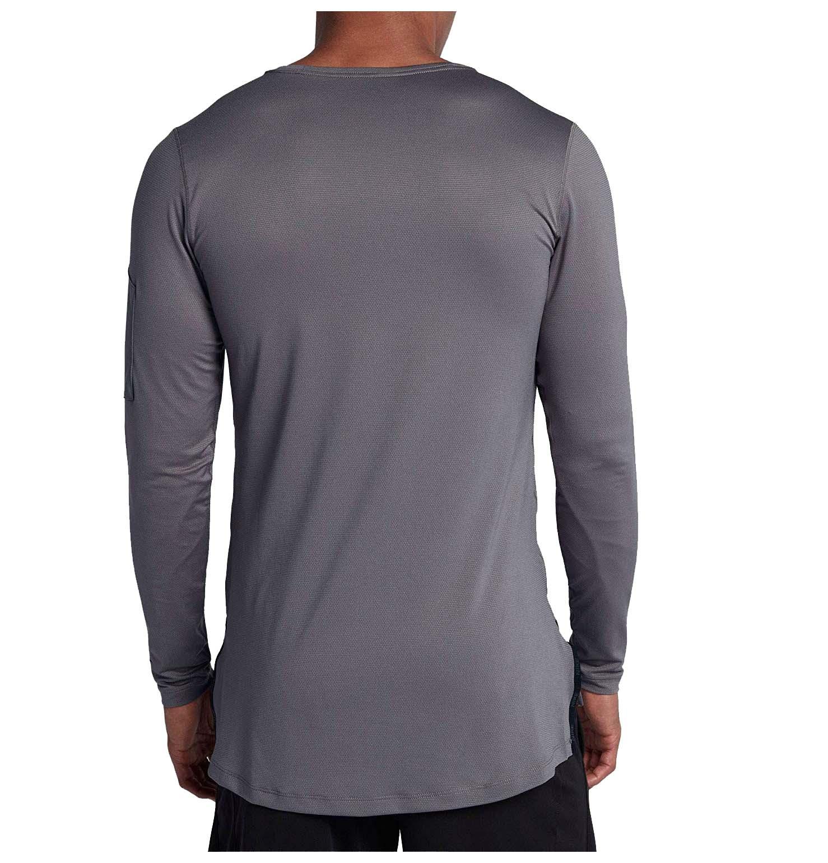 5f061ebb Nike Men's Modern Utility Fitted L/S Training Shirt-Gunsmoke | eBay