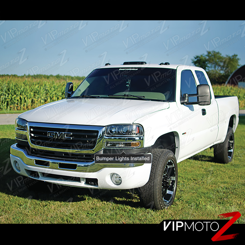 2007 Gmc Sierra Classic 3500 Extended Cab Transmission: 04-06 Sierra DuraMax Projector Halo LED Parking Bulbs Tail