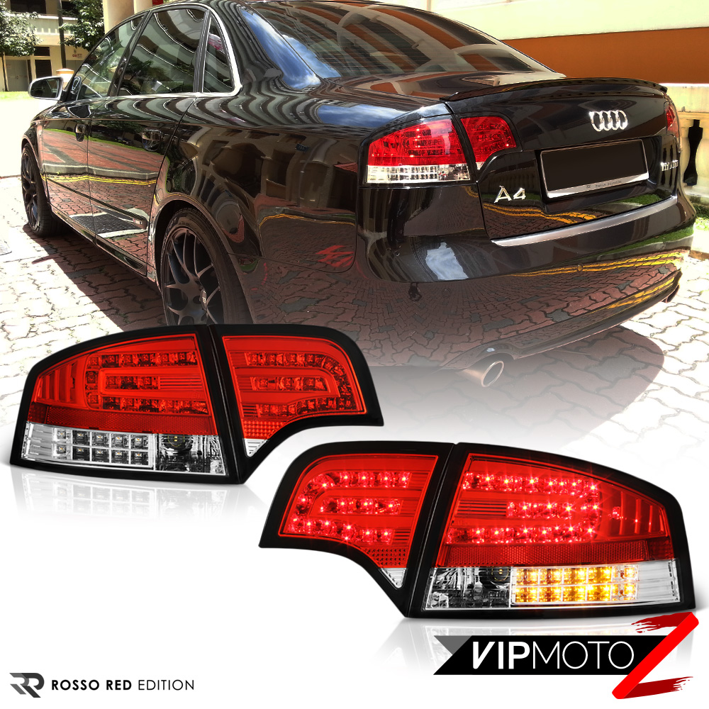 2005 2008 audi a4 b7 euro red 4pc rear brake led smd. Black Bedroom Furniture Sets. Home Design Ideas