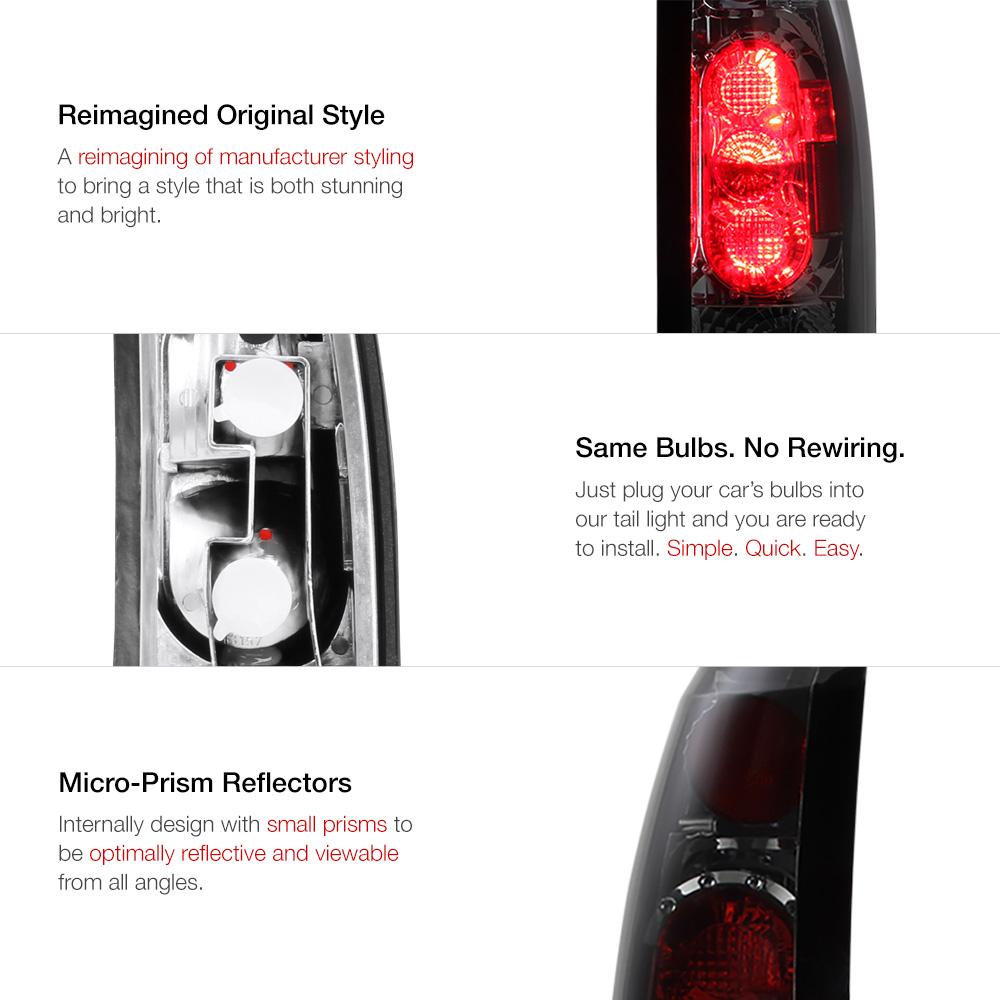 Car & Truck Headlights 1988-1993 Chevy Silverado C1500 C2500 Smoke ...
