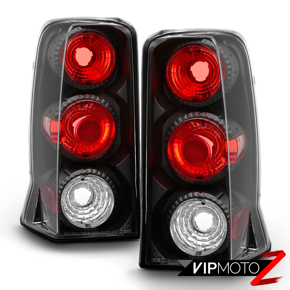 02-06 Cadillac Escalade Sport ESV Black Tail Lights Lamps