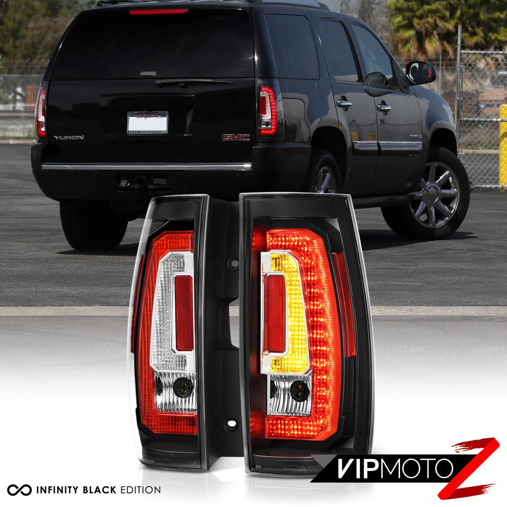 2007-2013 GMC Yukon//Yukon Denali//XL Black//Smoke 2PCS AUTOWIKI LED Tail Lights fit for 2007-2014 Chevrolet Suburban//Tahoe All Does NOT Fit Barn Door /& Hybrid Models