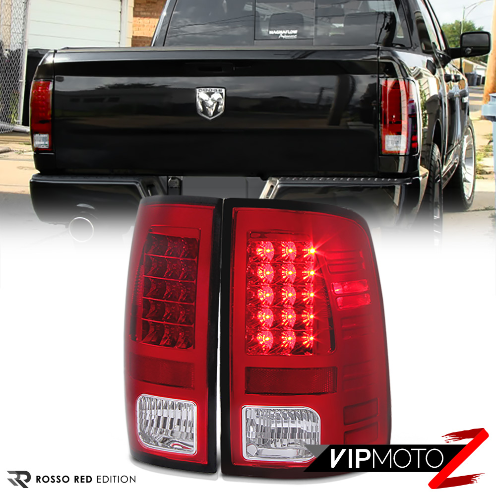 For 13 18 Dodge Ram 1500 2500 3500 Truck Red Led Tail