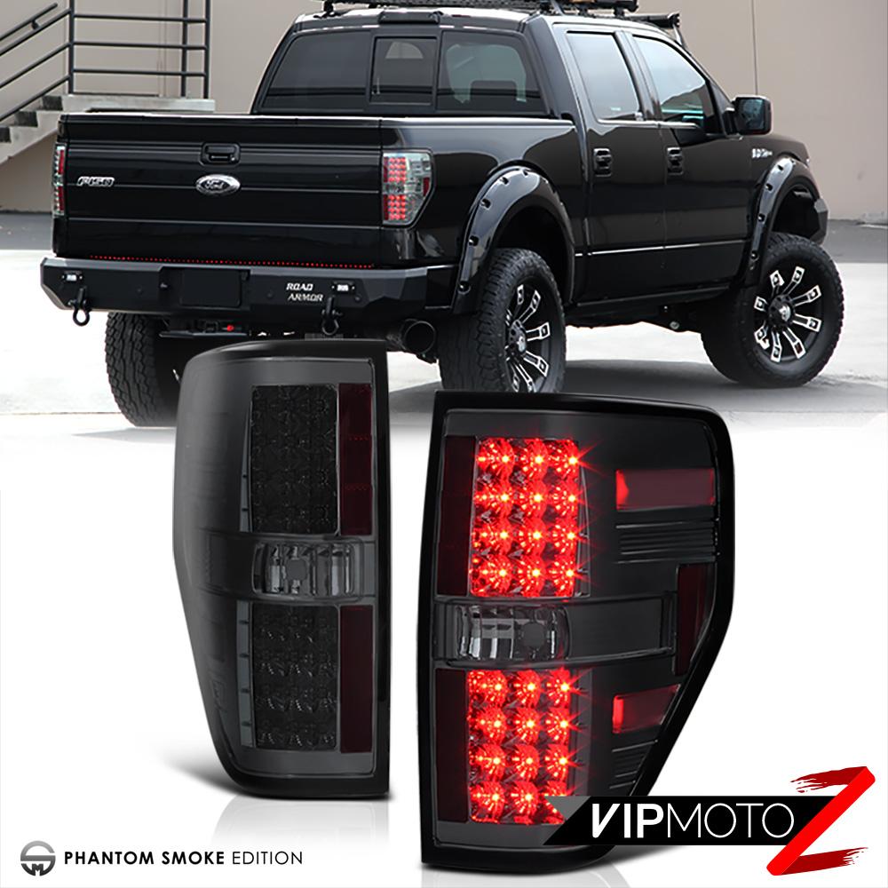 2009 2014 Ford F150 Smoke Led Brake Lamp Tail Light Halo