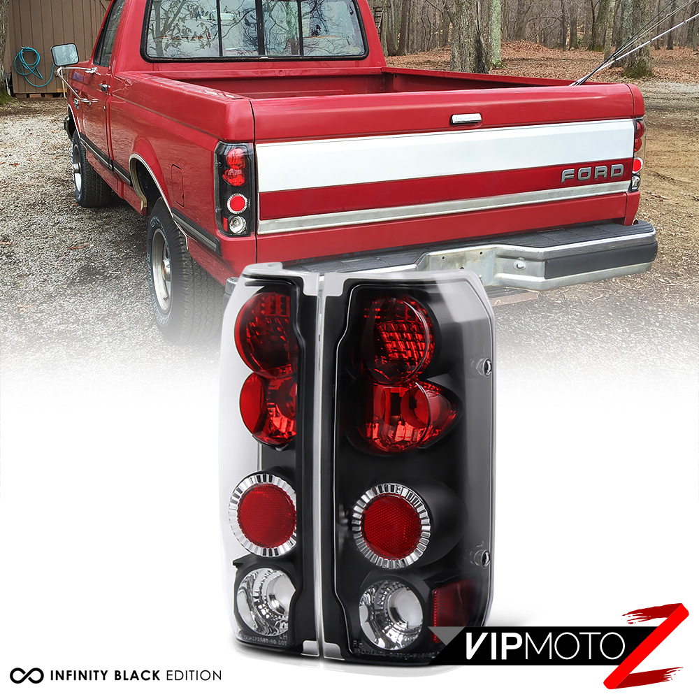 1989-1996 Ford Bronco F150 F250 F350 Super Duty Black Red