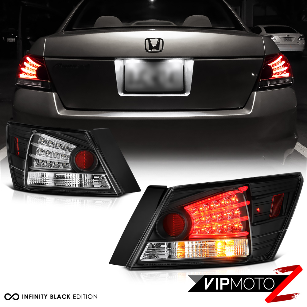 honda accord   cpcp dx lx  se dr led black tail light rear brake lamp ebay