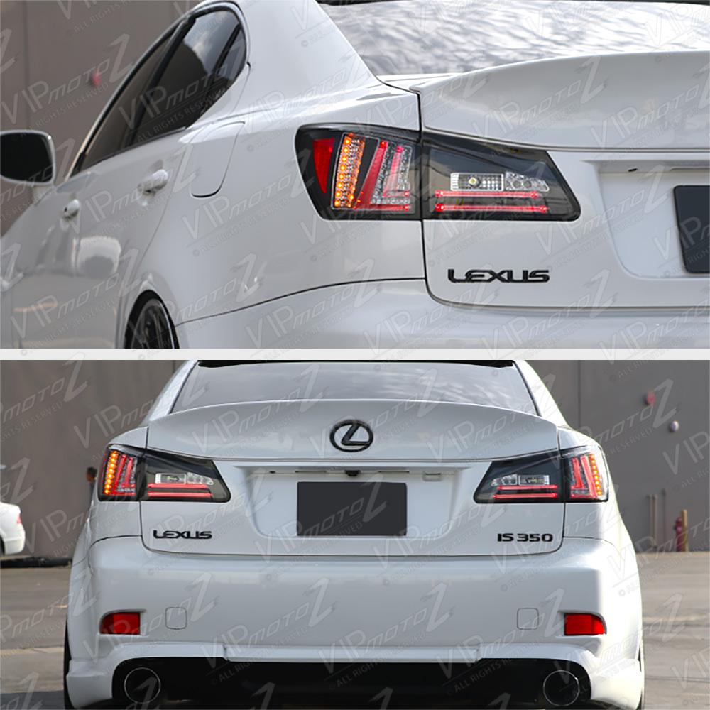 For 2006-2008 Lexus IS250 IS350 Sedan Black Rear LED Tail