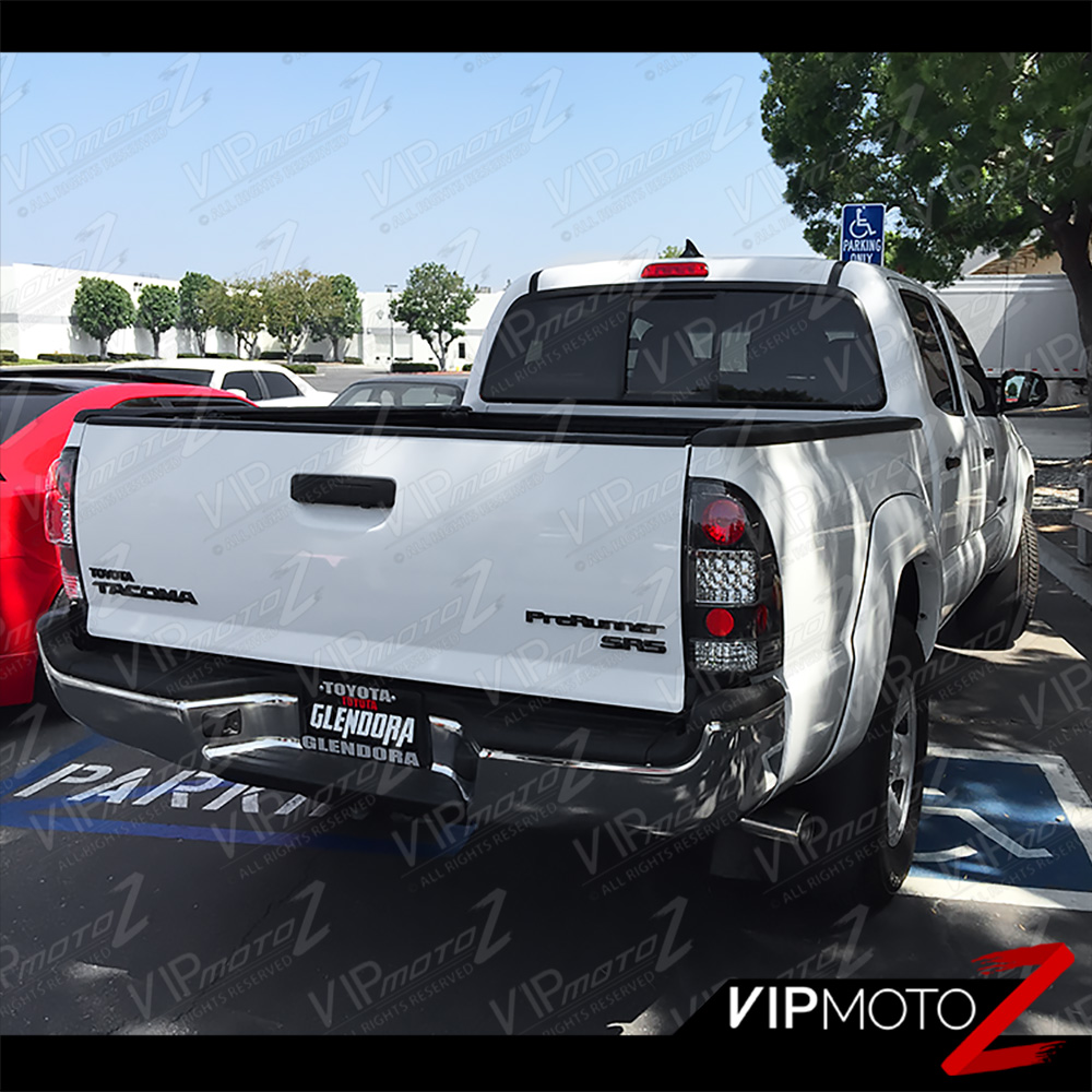2005-2015 toyota tacoma [trd style] led black tail lights ... 2011 tacoma tail light wiring