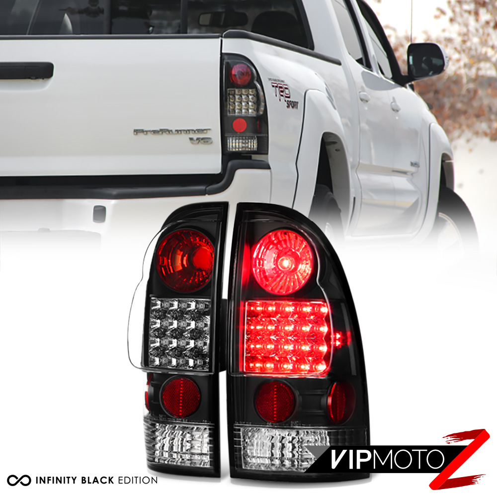 2005-2015 toyota tacoma [trd style] led black tail lights ... 2011 ford f 250 tail light wiring on 2011 tacoma tail light wiring