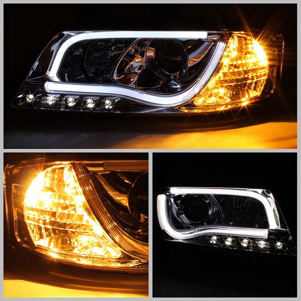 "2001 Audi Tt Headlights: 1998-2001 Audi A6 C5 Black ""Ultra Neon Tube"" LED DRL"
