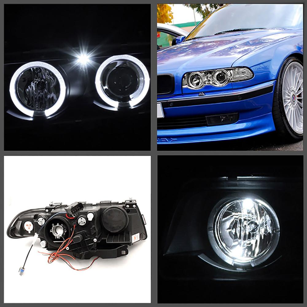 Bmw Xenon Headlights: 1999-2001 BMW E38 7-SERIES New Halo Angel Eyes Projector