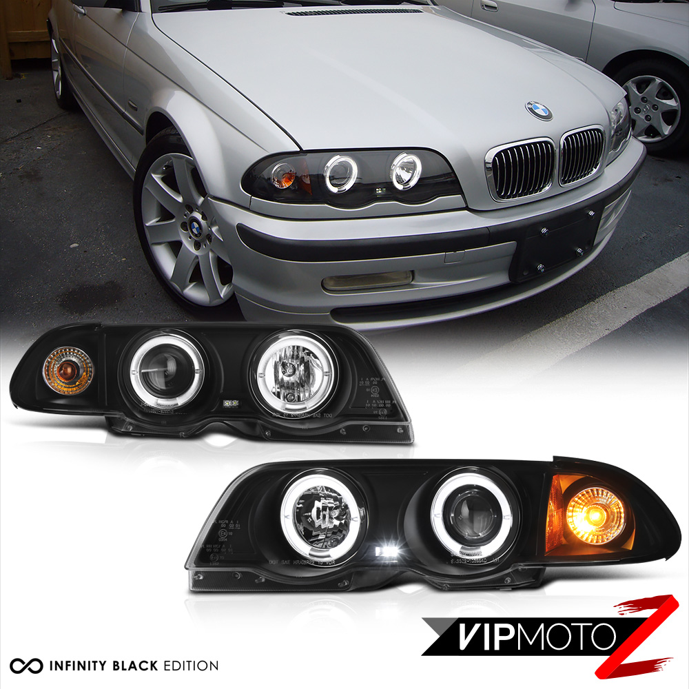 black halo projector headlight tail light combo 99 01 bmw. Black Bedroom Furniture Sets. Home Design Ideas