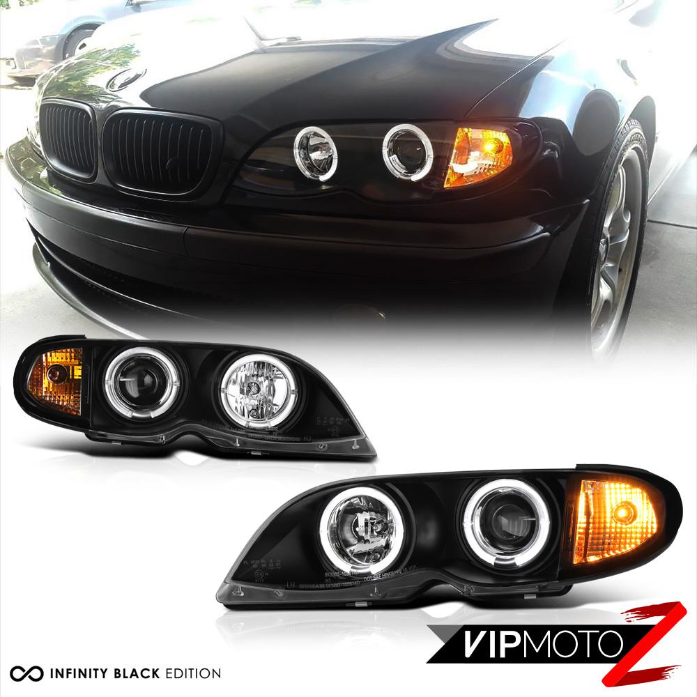 Bmw Xi: 2002-2005 BMW E46 4DR Sedan Black Halo Projector Headlight