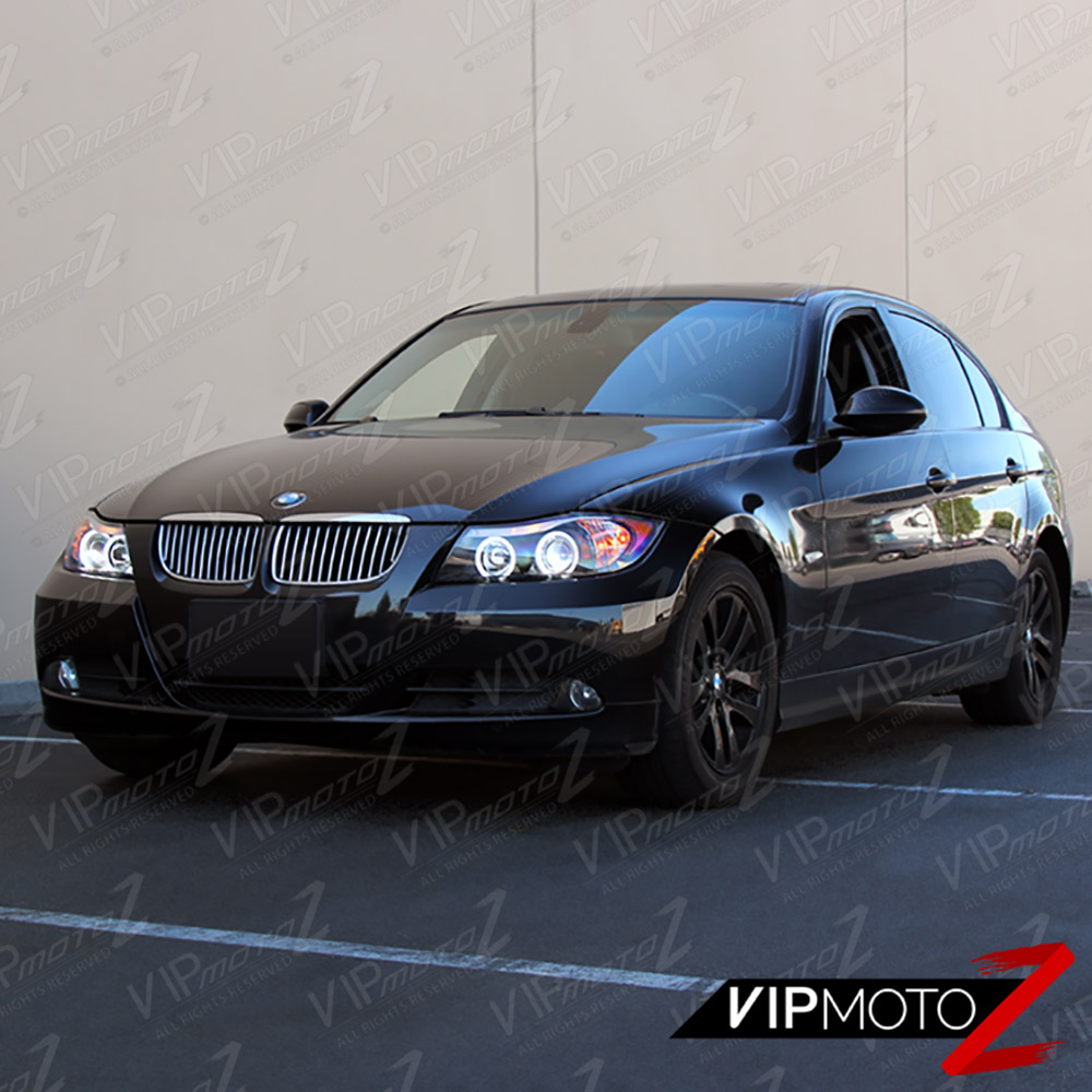 2006 2007 2008 BMW E90 3-Series Sedan Black Angel Eye