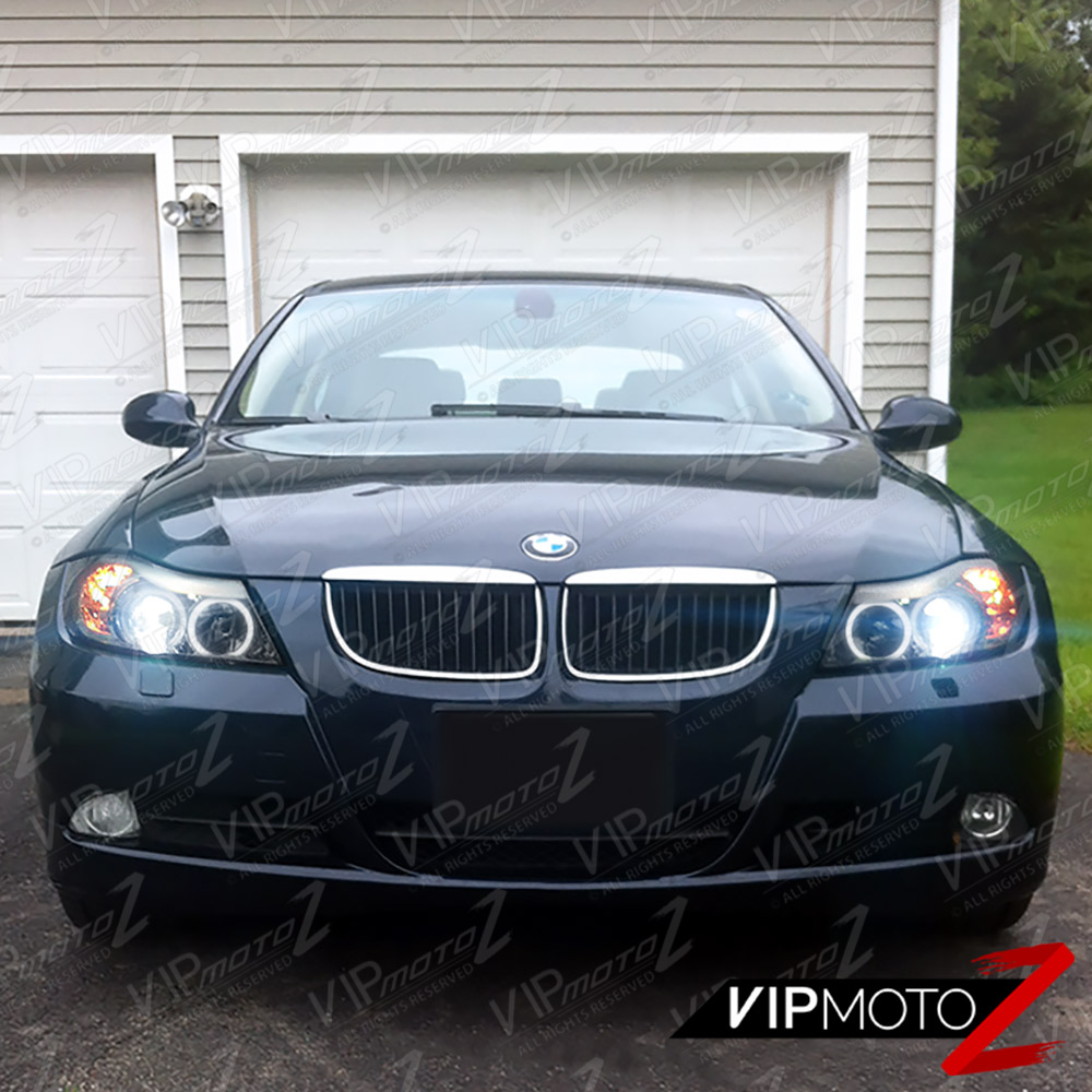 Bmw Xi 328: 2006 2007 2008 BMW E90 3 SERIES Sedan [DARK SMOKE] Halo
