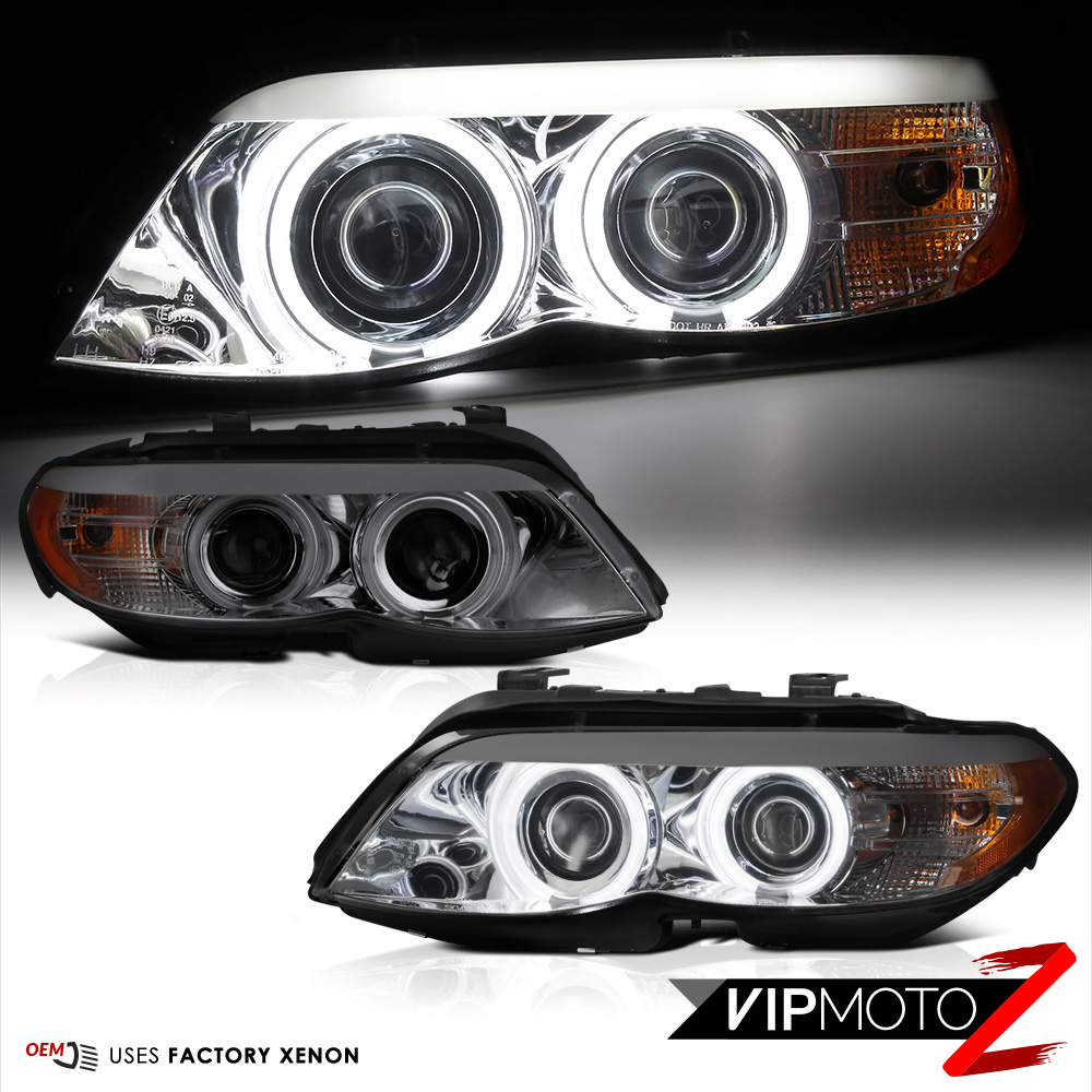 Bmw Xenon Headlights: [FACTORY XENON D2S] 2004-2006 BMW E53 X5 Smoke CCFL Halo