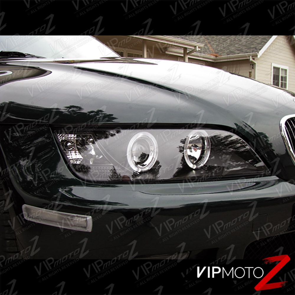 """Bmw Z3 2 5 I: 1996-2002 BMW Z3 """" M-Power Nero Angel Eye Halo Anello"""