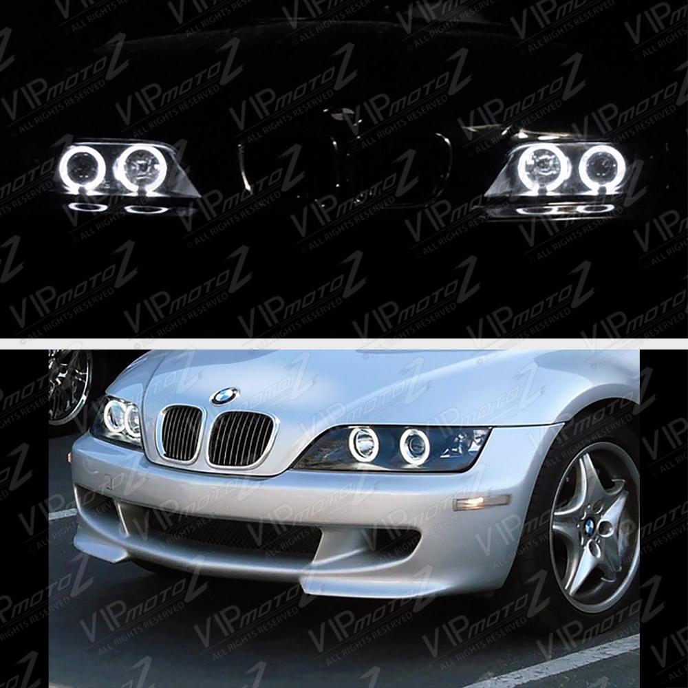 """Bmw Z3 2 8 L: 1996-2002 BMW Z3 """" M-Power """" Noir Angel Eye Halo Bague"""