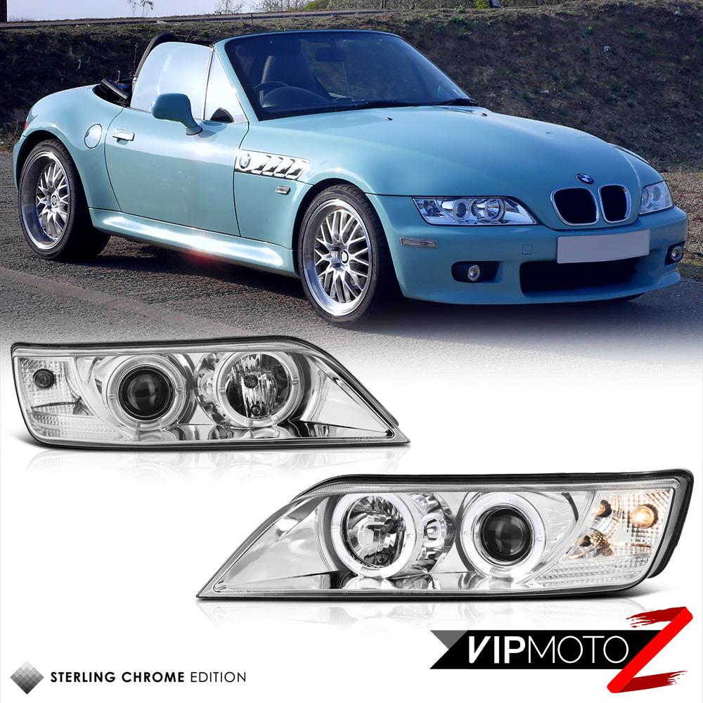 Bmw Z3: 96-02 BMW Z3 Dual Halo Projector Euro Chrome Headlight