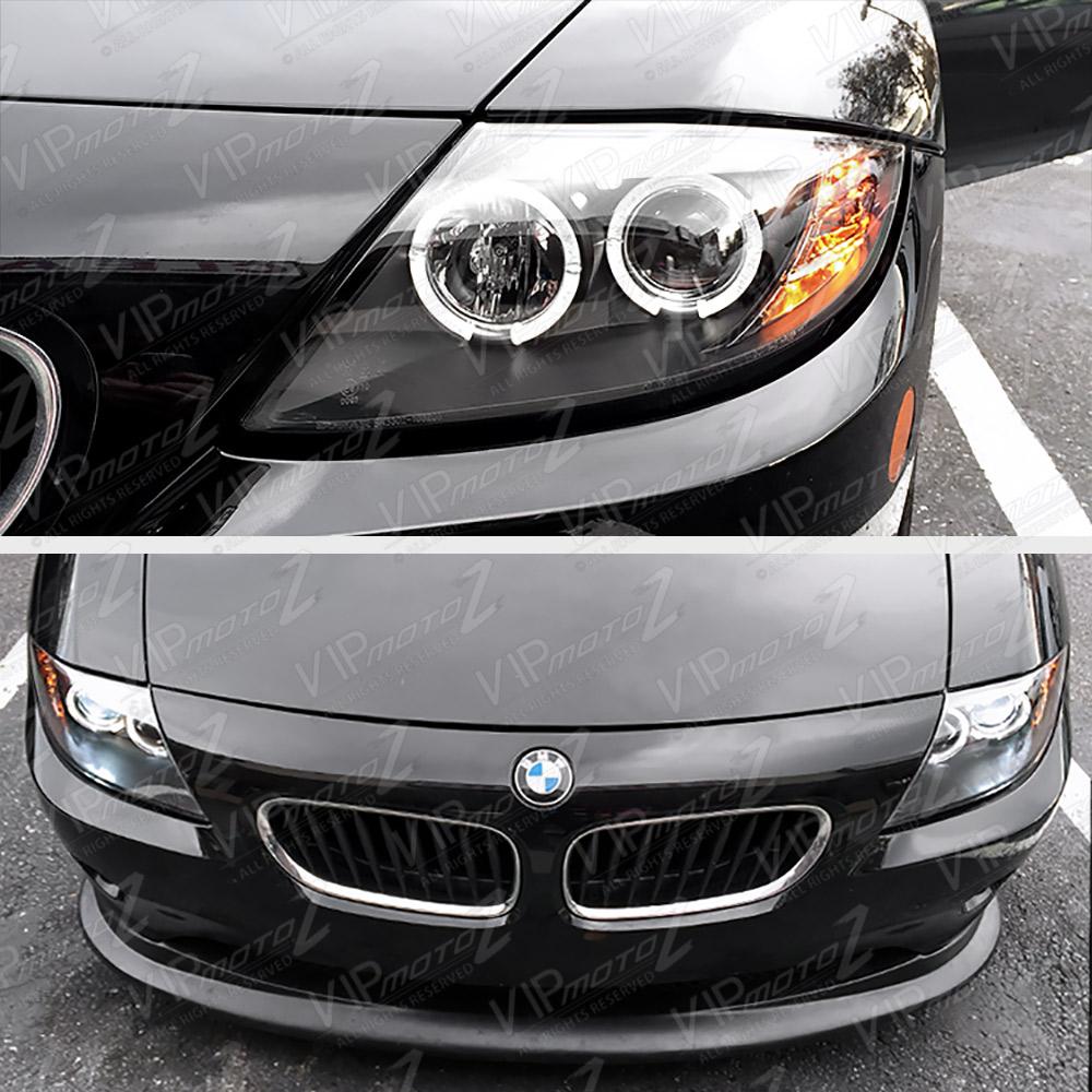 Bmw Xenon Headlights: 2003-08 BMW Z4 Xenon Model Halo Projector Black Headlight