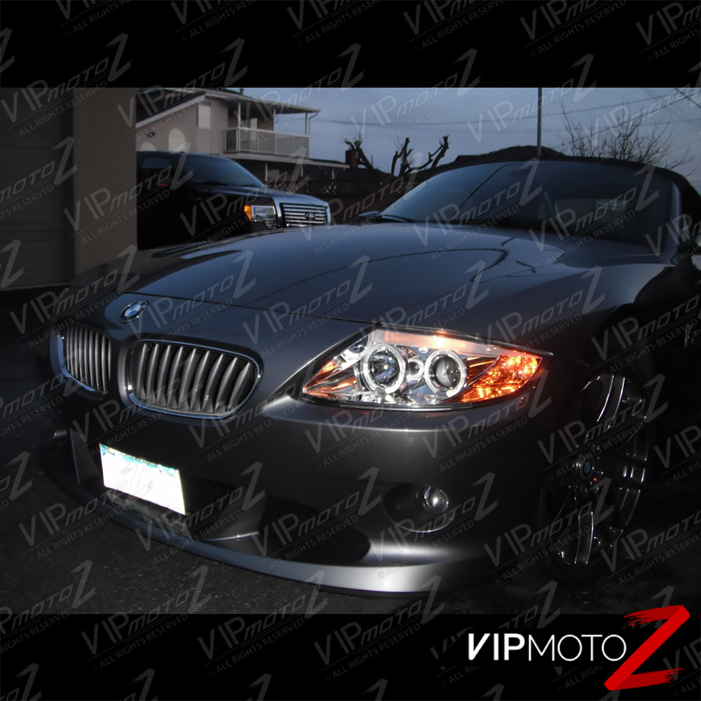 Bmw Z4 Xenon Headlights: New Pair Left+Right Euro Clear Crystal Halo Projector