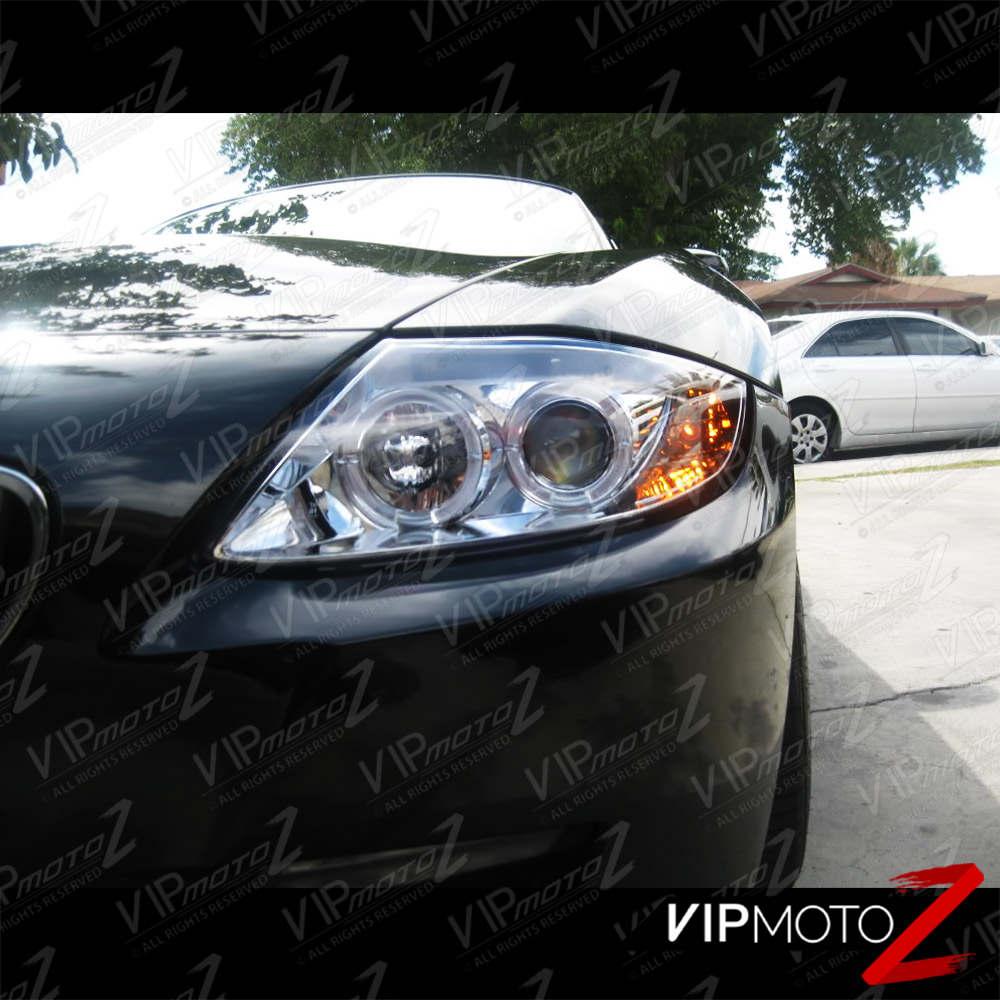 2008 Bmw Z4: New Pair Left+Right Euro Clear Crystal Halo Projector