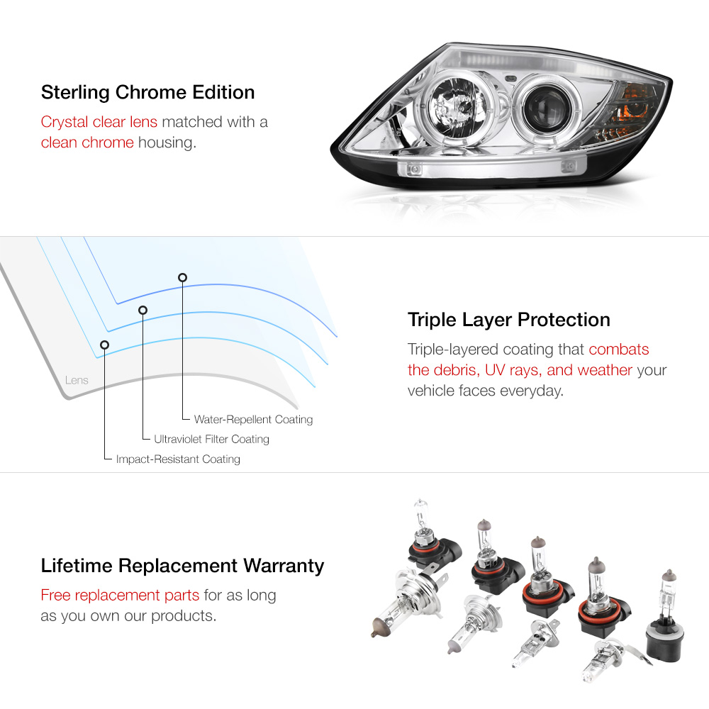 cree led low beam euro clear crystal halo projector. Black Bedroom Furniture Sets. Home Design Ideas