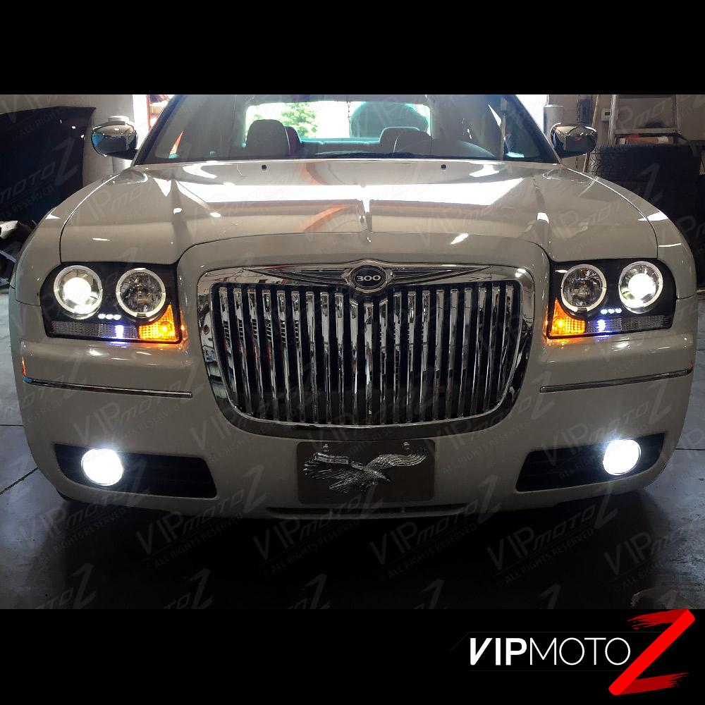 2005 2006 2007 2008 2009 2010 Chrysler 300 300c Black Mesh: 2005-2010 Chrysler 300 Black HALO ANGEL EYE Projector LED