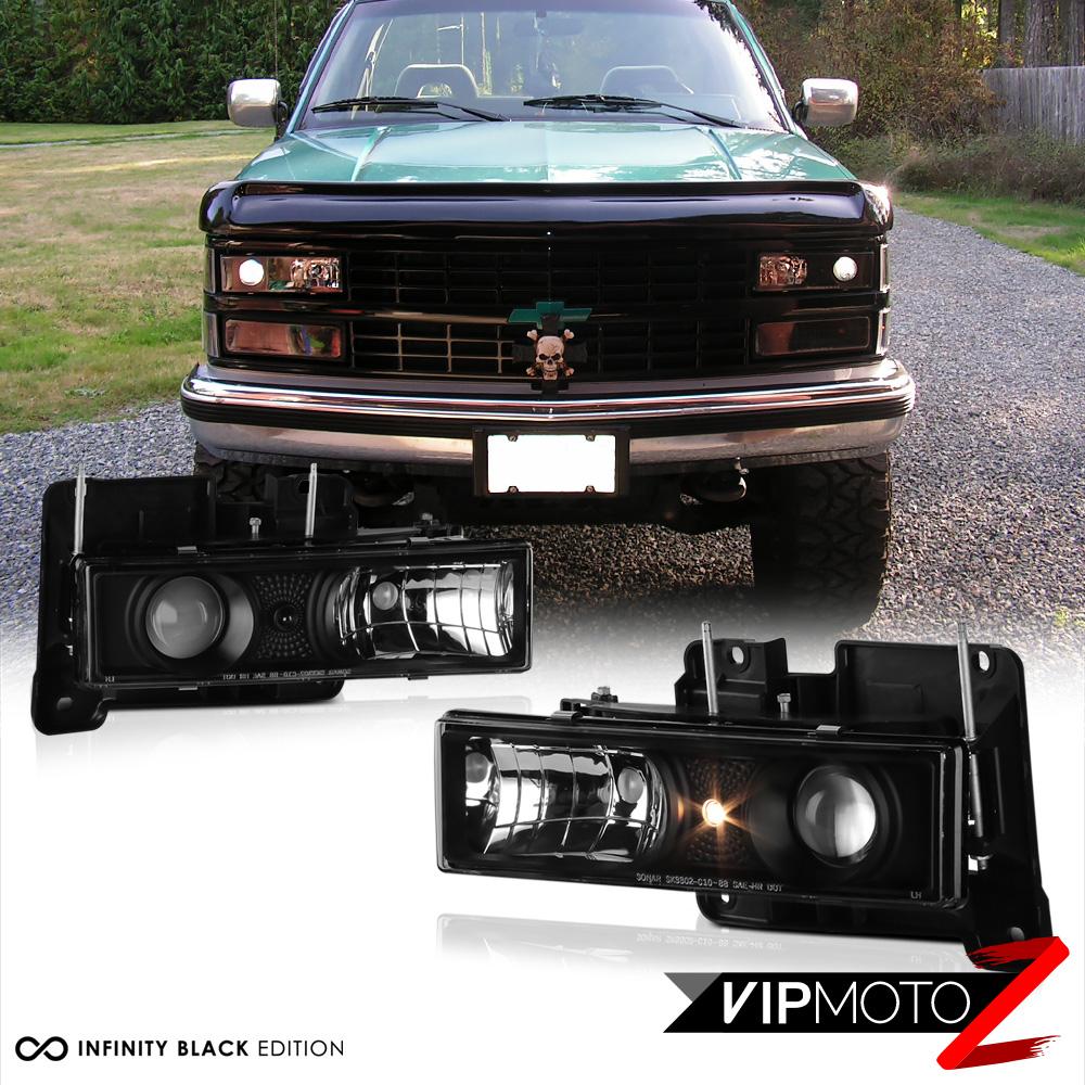 1988 1998 Chevy Gmc C10 C K Tahoe Blazer Black Projector