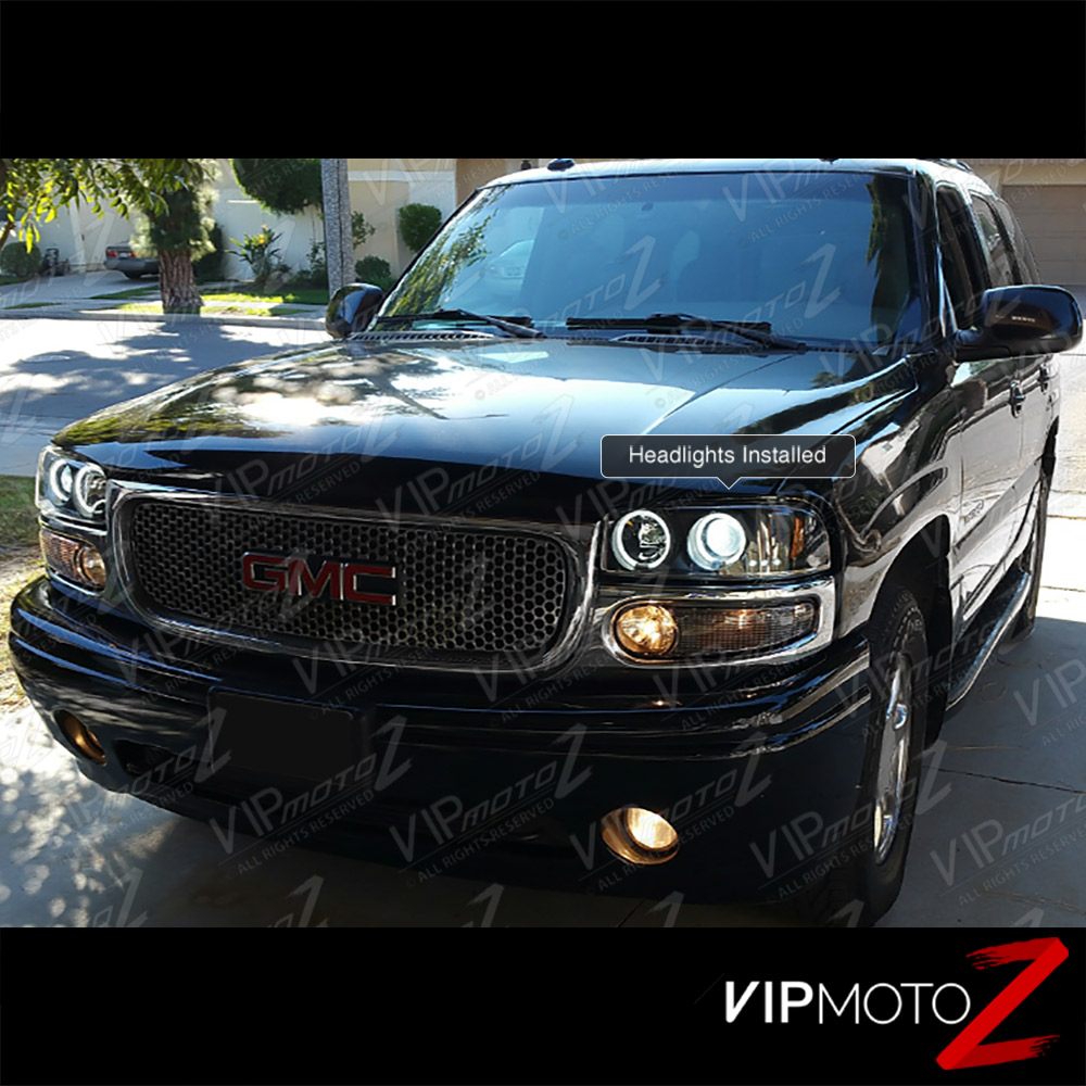 2000 2006 gmc yukon denali 1500 2500 ccfl halo led. Black Bedroom Furniture Sets. Home Design Ideas