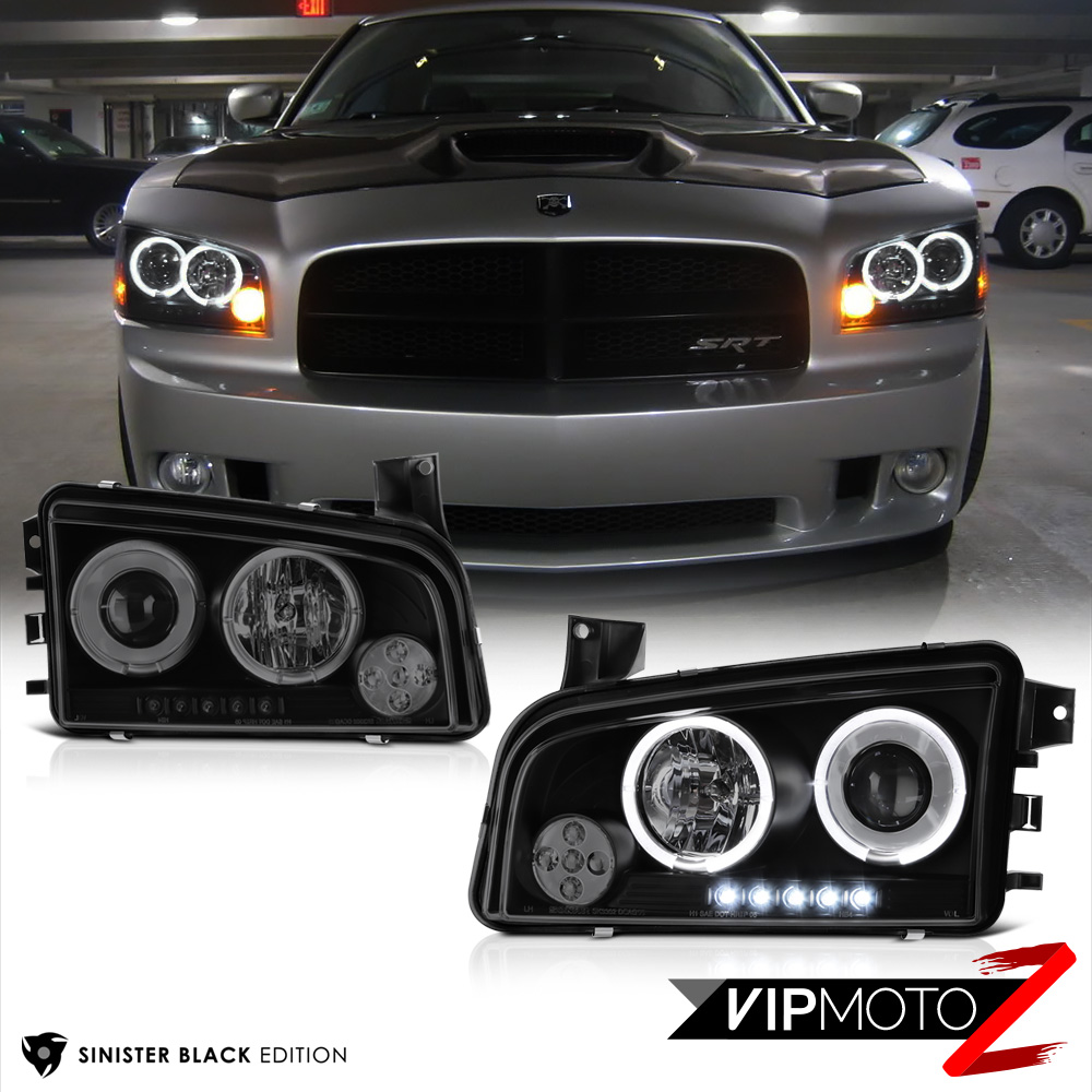 Dodge Led Headlights New Car Specs And Price 2019 2020 2013 Charger Beats Audio Wiring Color Codes 2006 2010 Sinister Black Quad Halo