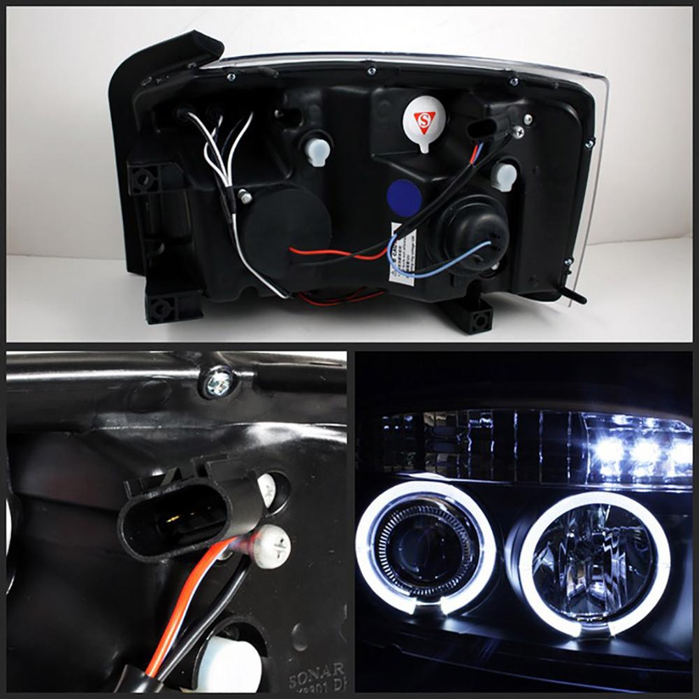 2005-2007 Dodge DAKOTA New Pair LED Projector Black