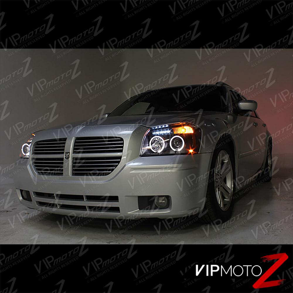 2005 2007 Dodge Magnum Halo Angel Eye Led Projector Black