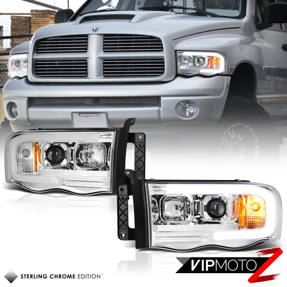 Dodge 02-05 Ram 1500 03-05 Ram 2500 3500 Euro Chrome Projector Headlights