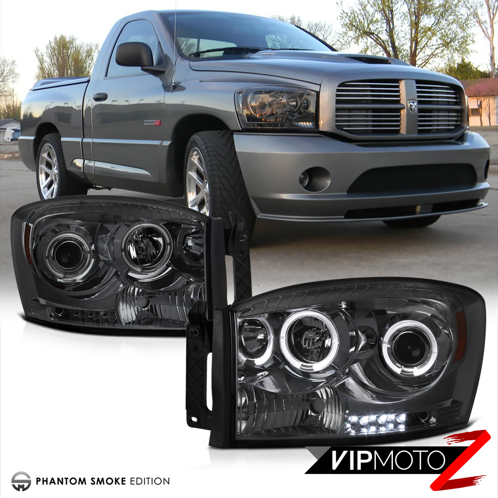 2006 dodge ram 2500 3500 smoke halo projector headlight. Black Bedroom Furniture Sets. Home Design Ideas