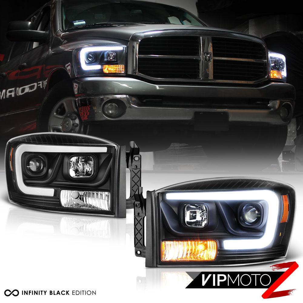 2006 2009 Dodge Ram 1500 Sinister Black 06 08 Ram 2500: 06-08 Dodge RAM 1500 Pickup Truck Schwarz LED Tube