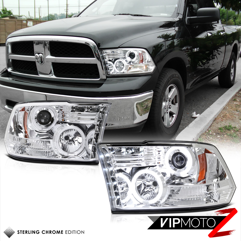 2010 Dodge Ram 2500 Regular Cab Exterior: 10 11 12 13 CCFL Chrome Halo Projector Headlight DODGE RAM