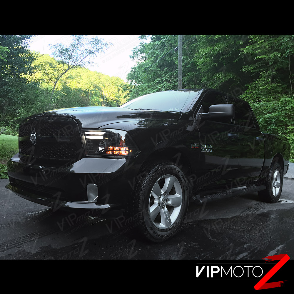 Dodge Extended Warranty >> [TRIBAL DESIGN] 2013 2014 2015 2016 Dodge Ram 1500 2500 3500 Black Headlights