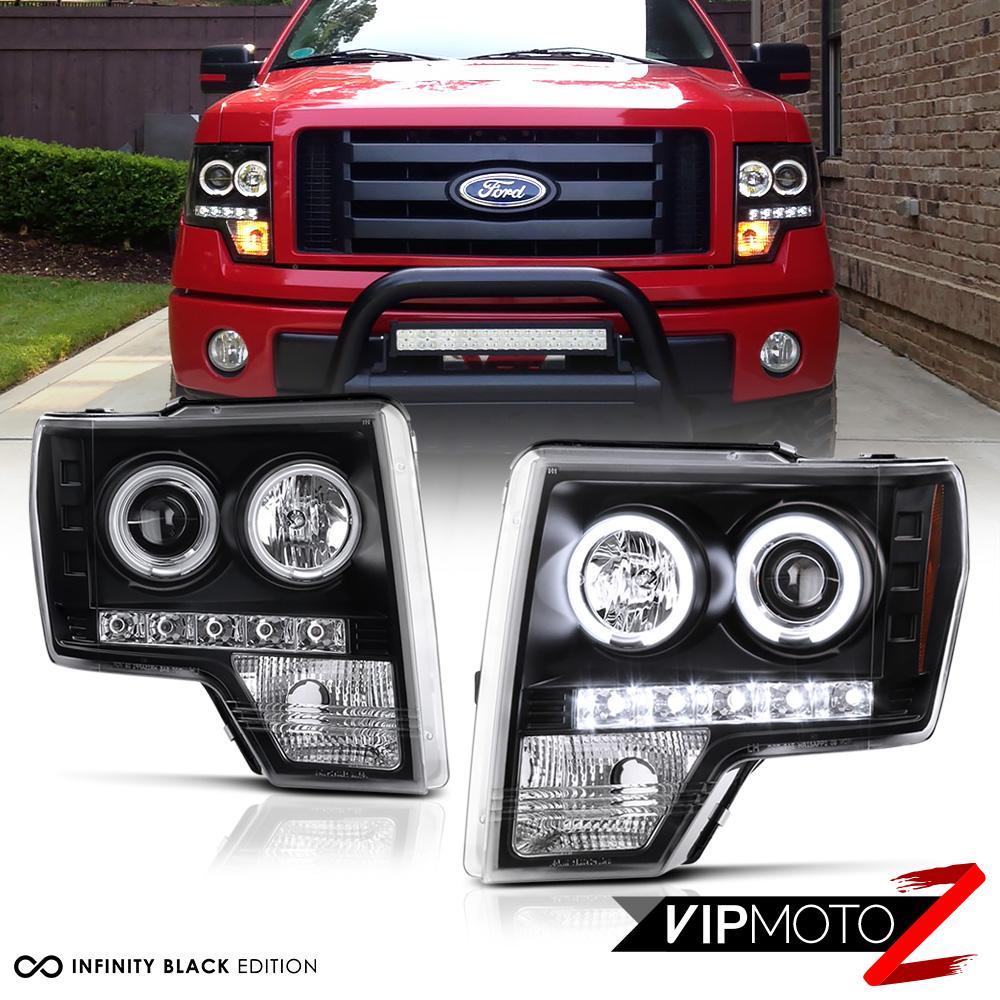 2009 2014 Ford F150 Raptor Style Black Ccfl Halo