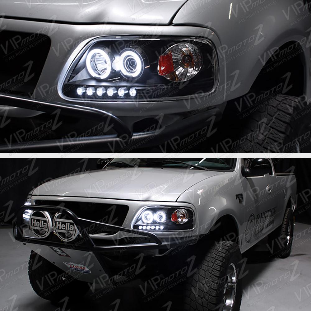 1997-2003 Ford F150 Lobo Black Halo LED DRL Projector