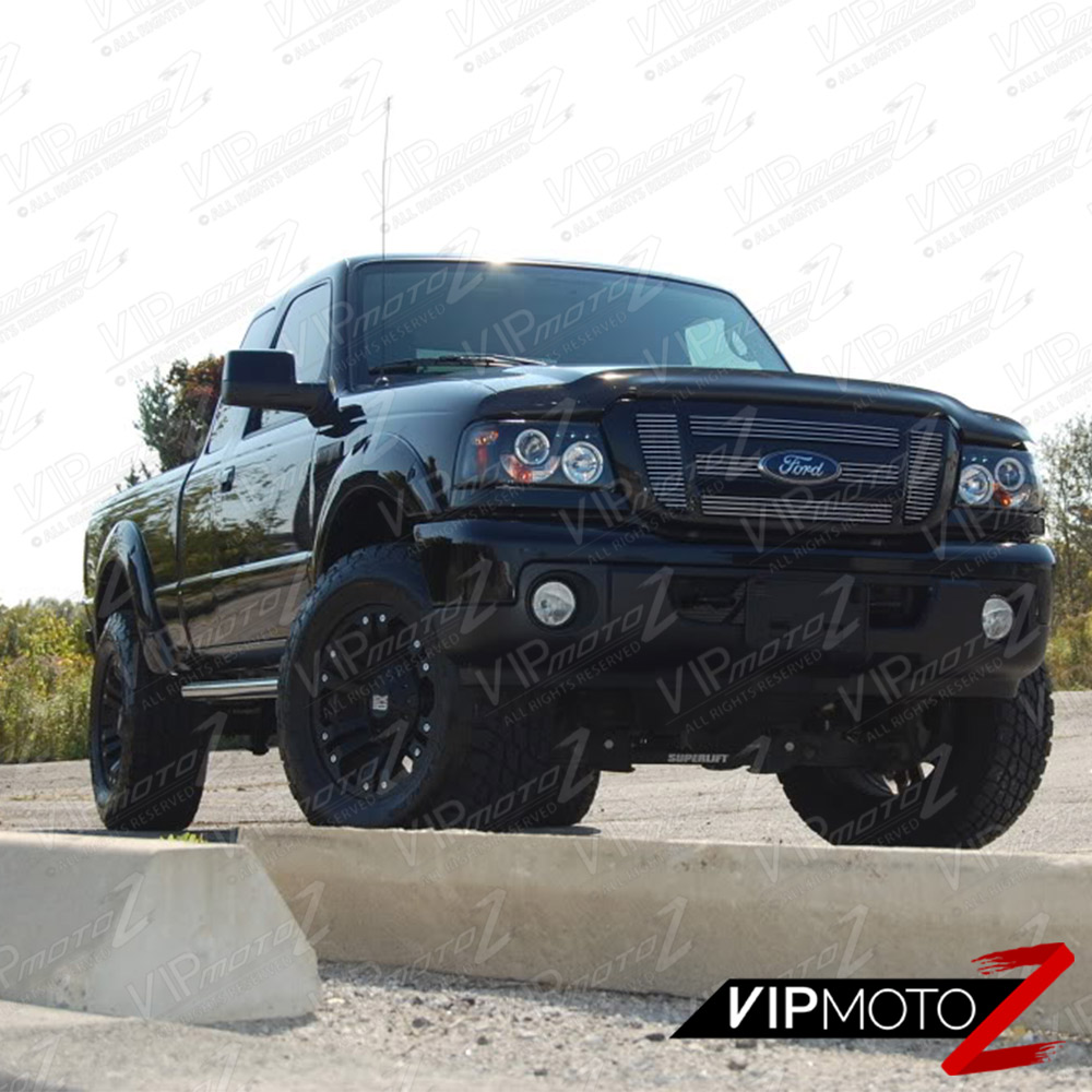 Ford Ranger Headlights : Ford ranger pair lh rh halo led black projector