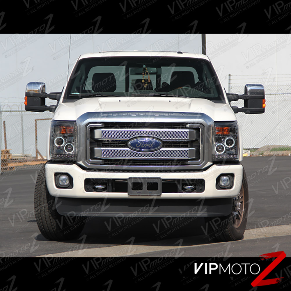 2011-2016 Ford SuperDuty F250 F350 F450 SMOKED CCFL Halo