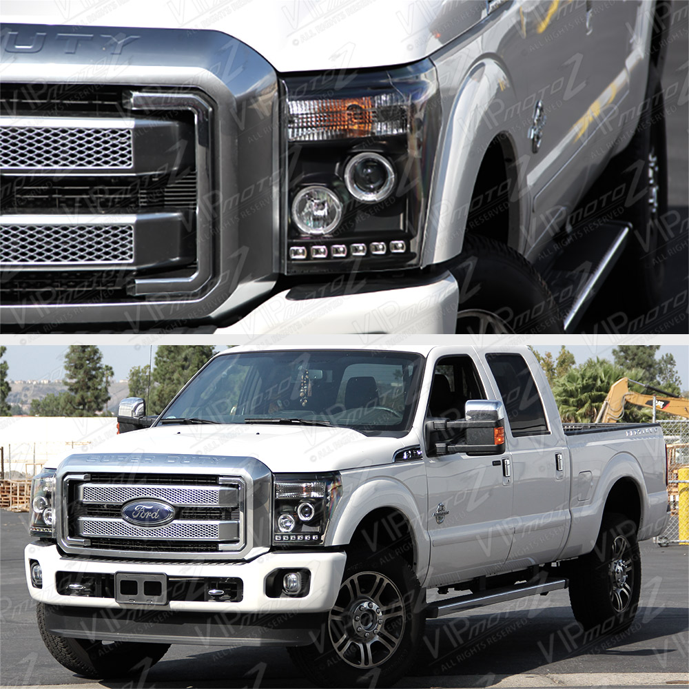 2011-2016 Ford F250 F350 F450 SuperDuty SD Black Halo LED