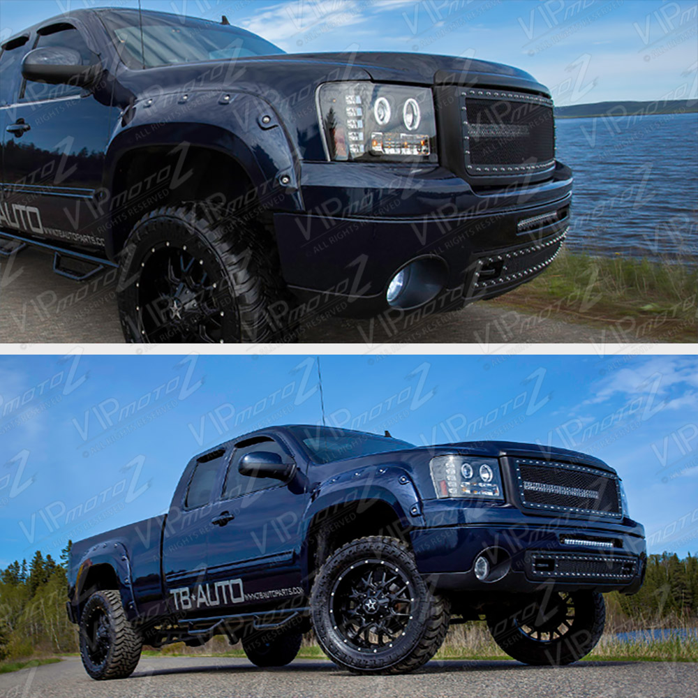 2012 Gmc Sierra 3500 Hd Extended Cab Transmission: 2007-2013 GMC Sierra 1500 2500HD 3500HD Black LED Angel