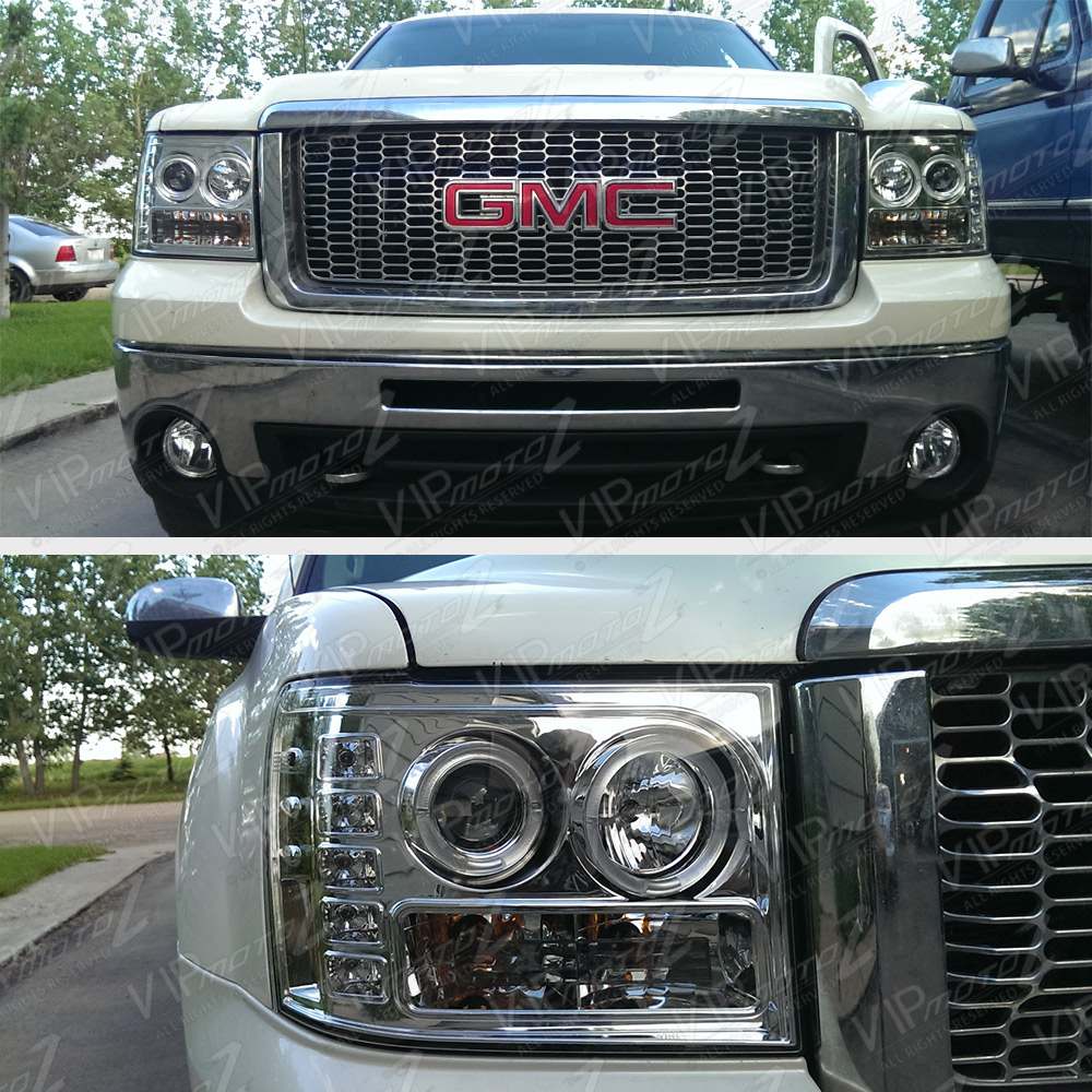 2007-2013 GMC SIERRA 1500 2500HD 3500HD CHROME LED DRL