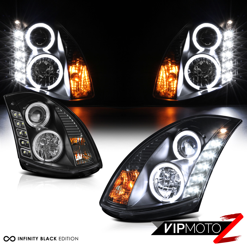 For 2003 2007 G35 Coupe 2d Brightest Angel Eye Drl Led