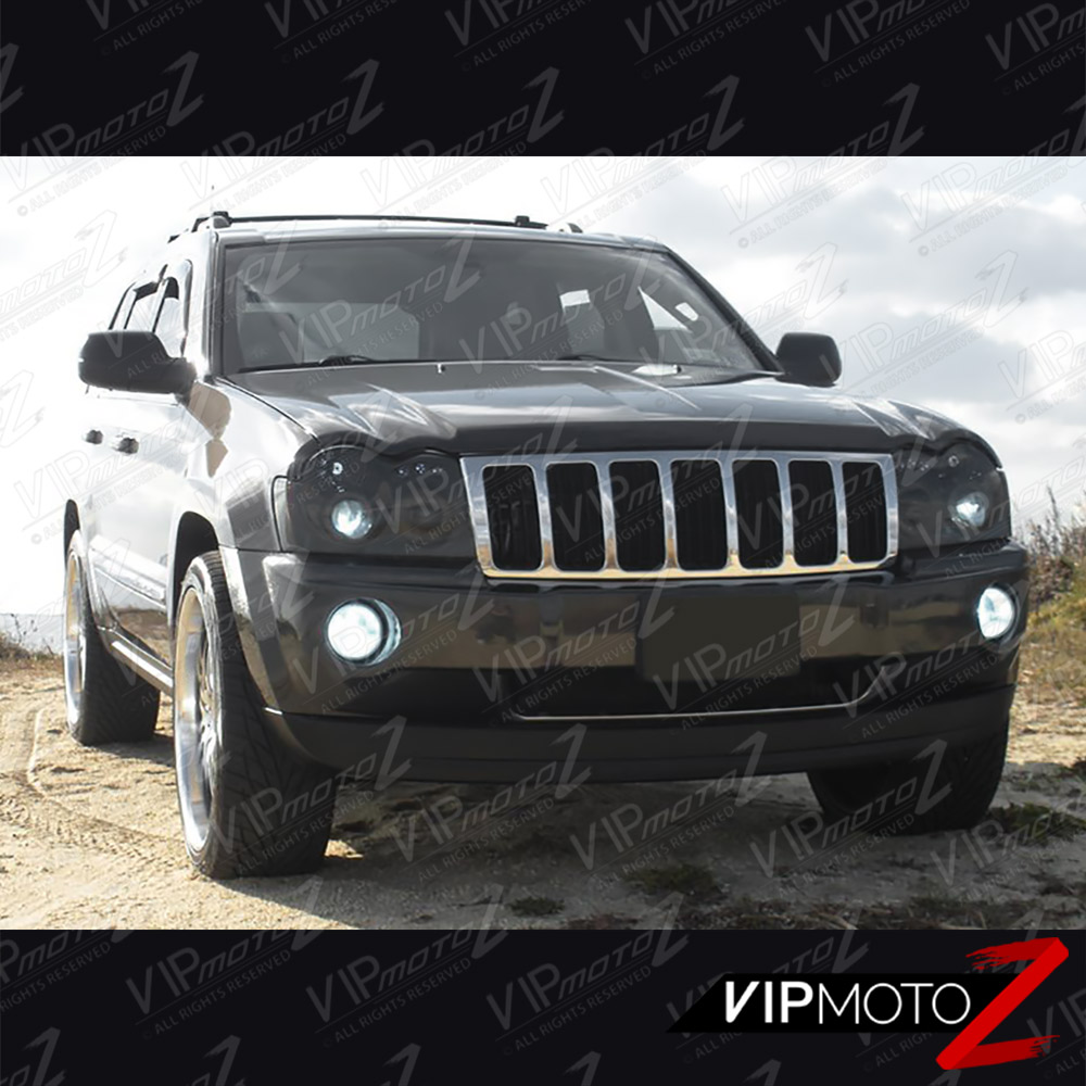 05 07 Jeep Grand Cherokee Wk Smoked Fog Lights Projector Headlamps A Map Of Wiring For 2005 Designed To Fit 2007