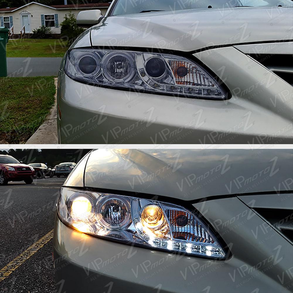 New Halo Angel Eye Smoke Projector Headlight Led Drl Lamp