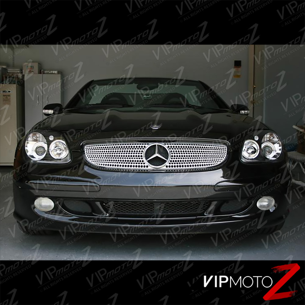 1998 2004 mercedes benz r170 slk230 slk320 slk32 amg black for Mercedes benz headlight bulb